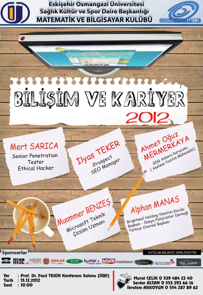 Eskişehir Osmangazi Üniversitesi Bilişim ve Kariyer 2012
