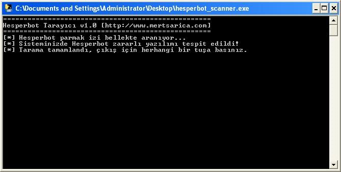 Hesperbot Scanner