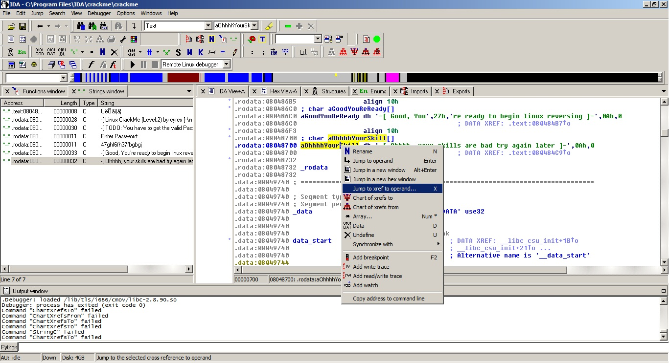 Linux IDA