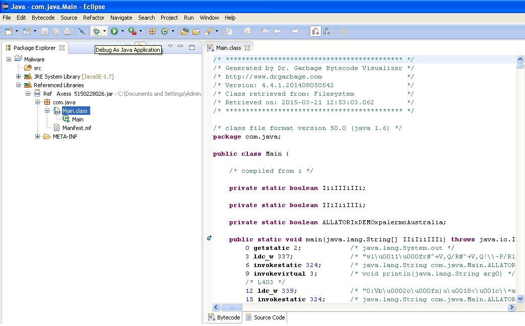 Java Bytecode Debugging