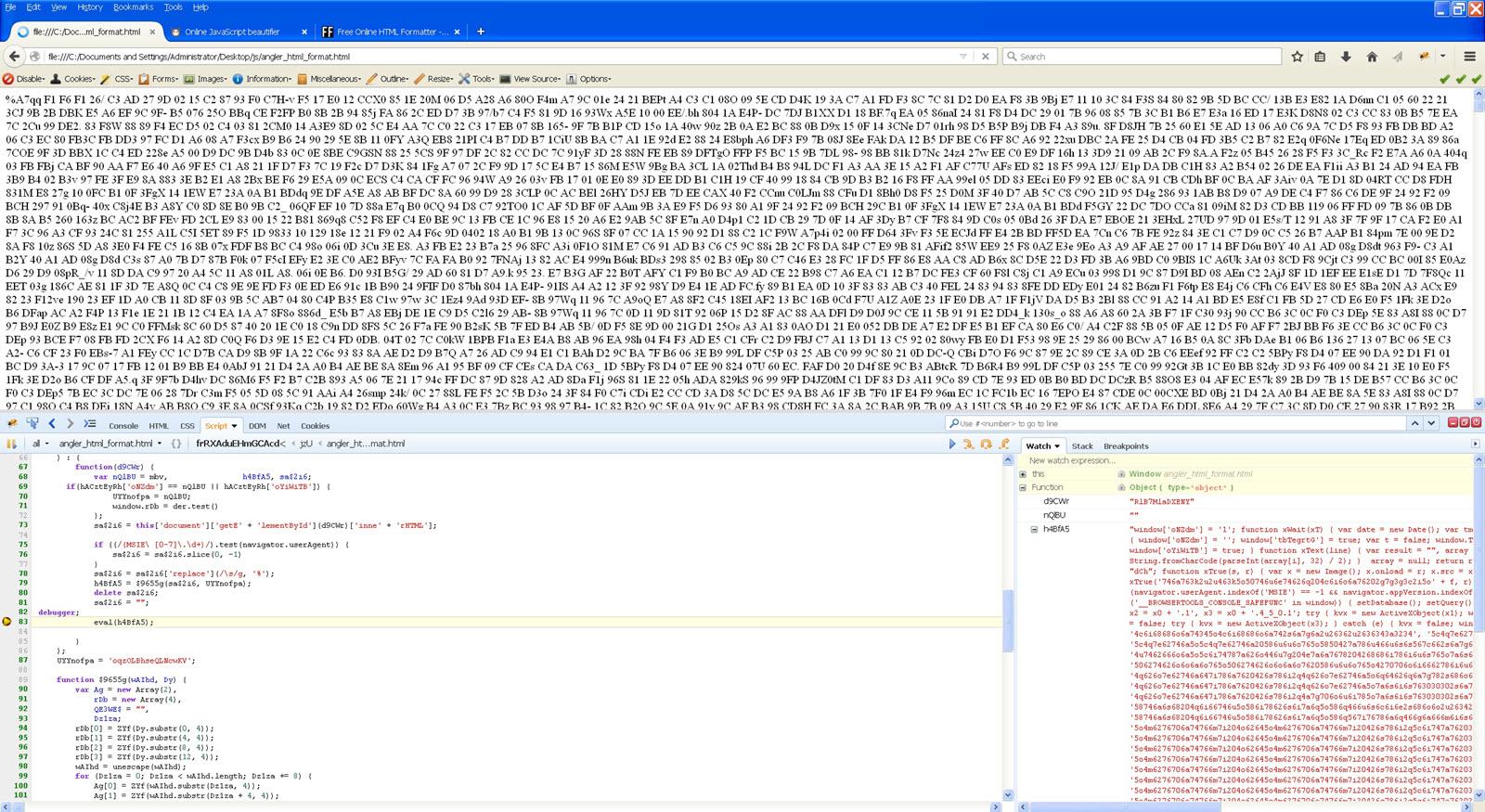 Malicious JavaScript Analysis