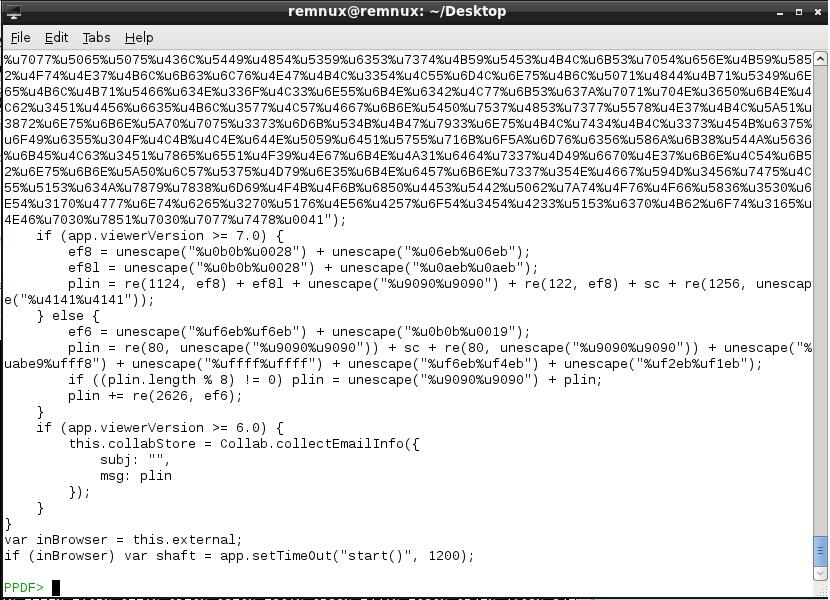 Zararlı PDF Analizi