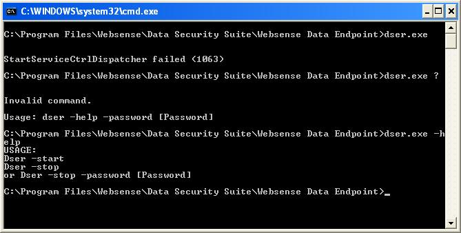 Websense Data Endpoint